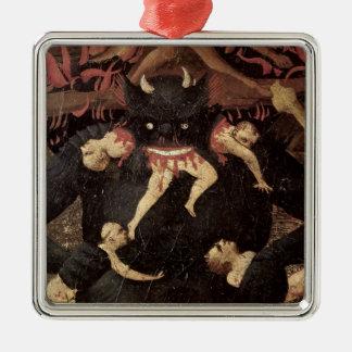 The Last Judgement, detail of Satan devouring Metal Ornament
