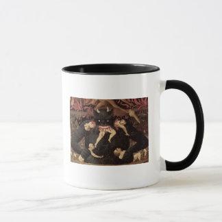 The Last Judgement, detail of Satan devouring Mug