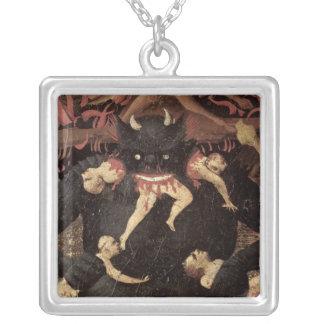 The Last Judgement, detail of Satan devouring Square Pendant Necklace
