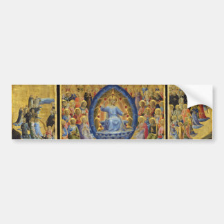The Last Judgement on Winged Altar by Fra Angelico Car Bumper Sticker