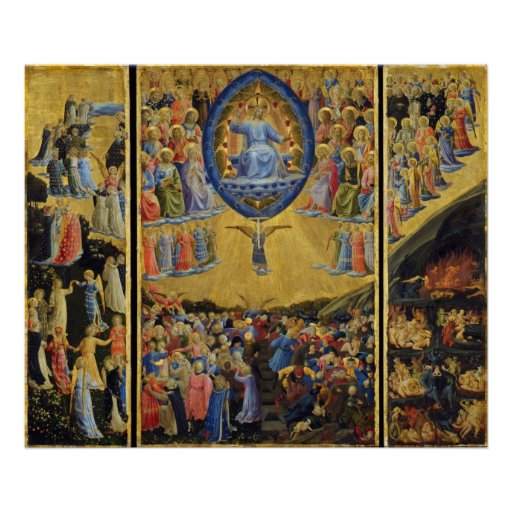 The Last Judgement on Winged Altar by Fra Angelico Poster