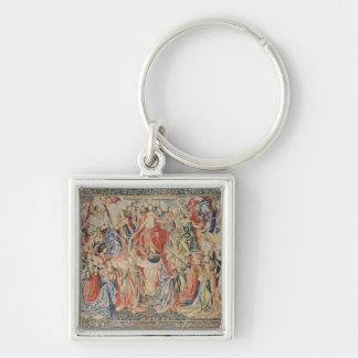 The Last Judgement: The Redemption of Man Silver-Colored Square Keychain
