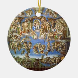 The Last Judgment Fresco by Michelangelo Ceramic Ornament