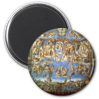 The Last Judgment Fresco by Michelangelo Magnet