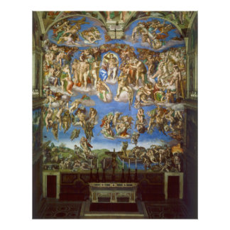 The Last Judgment Fresco by Michelangelo Poster