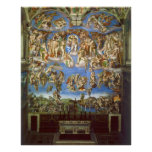 The Last Judgment Fresco by Michelangelo Print