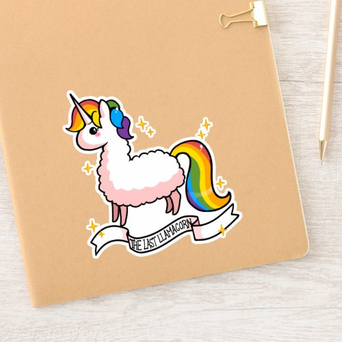 The Last Llamacorn Sticker