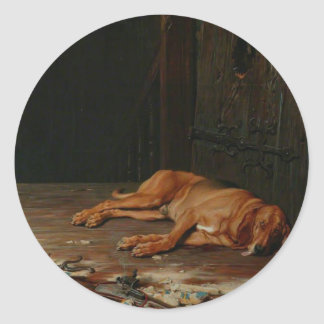 The Last of the Garrison by Briton Riviere Classic Round Sticker
