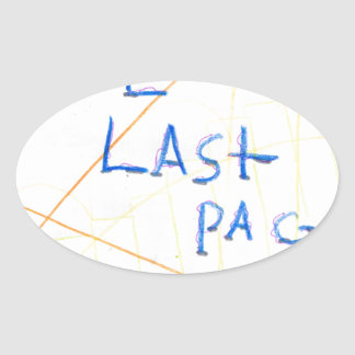 The Last Page Oval Sticker