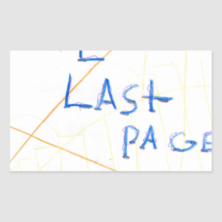 The Last Page Rectangular Sticker