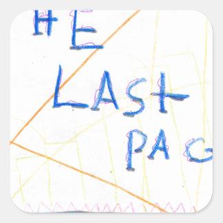 The Last Page Square Sticker