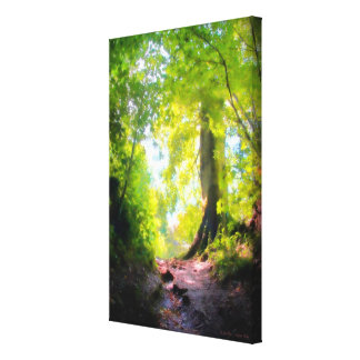 The Last Rise, Woodland Scene - wrapped canvas Gallery Wrapped Canvas