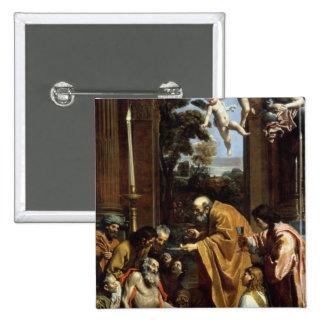 The Last Sacrament of St. Jerome, 1614 Button