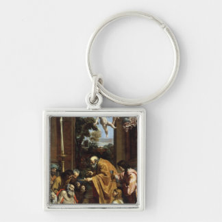 The Last Sacrament of St. Jerome, 1614 Keychain