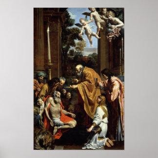 The Last Sacrament of St. Jerome, 1614 Print