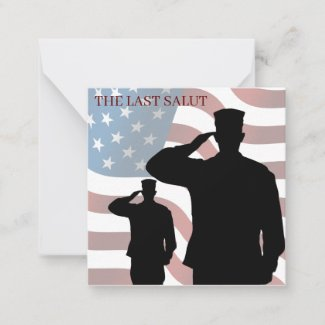 THE LAST SALUT NOTE CARD