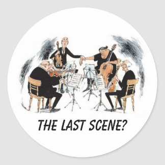 THE LAST SCENE? CLASSIC ROUND STICKER