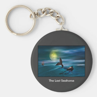 The Last Seahorse Basic Round Button Keychain