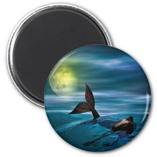 The Last Seahorse 2 Inch Round Magnet