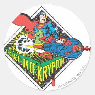 The Last Son of Krypton Round Stickers