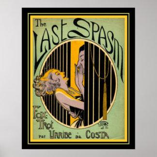 """The Last Spasm"" Art Deco Foxtrot Print 16x20"