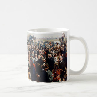 The Last Spike by Thomas Hill - Dated 1881 Coffee Mug