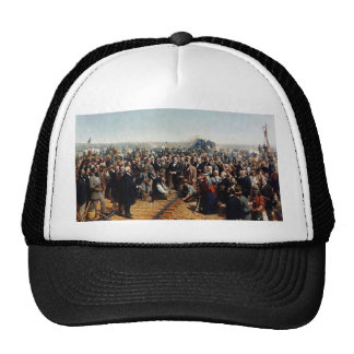 The Last Spike by Thomas Hill - Dated 1881 Trucker Hat