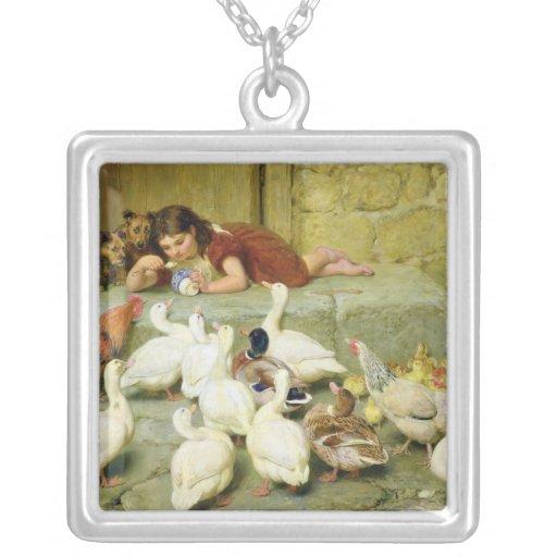 The Last Spoonful, 1880 Square Pendant Necklace