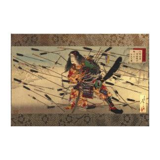 The Last Stand of the Kusunoki Tsukioka Yoshitoshi Canvas Print