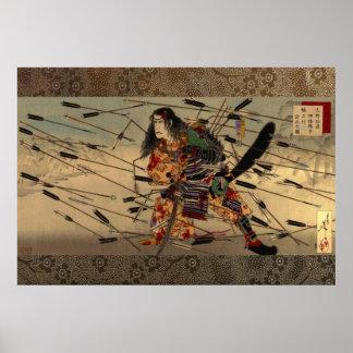 The Last Stand of the Kusunoki Tsukioka Yoshitoshi Poster