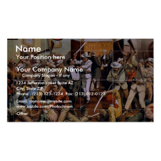 The Last Stroke, 'Cuba's' Retro Theater Double-Sided Standard Business Cards (Pack Of 100)