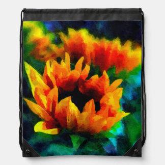 The Last Sunflowers Drawstring Bag
