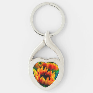 The Last Sunflowers Keychain
