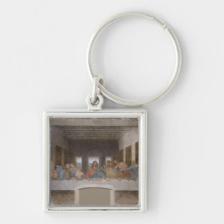 The Last Supper (1495-1498) Silver-Colored Square Keychain