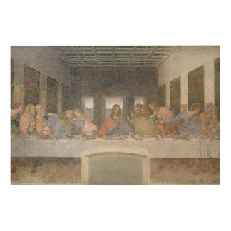 The Last Supper, 1495-97 (fresco) Wood Print