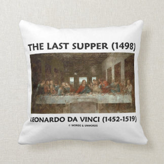 The Last Supper (1498) by Leonardo da Vinci Throw Pillow