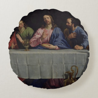 The Last Supper, 1648 Round Pillow