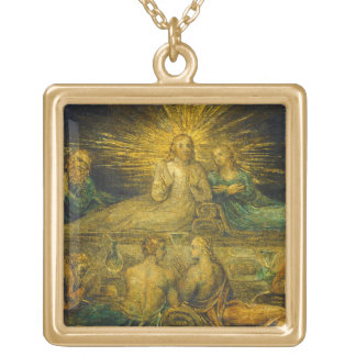 The Last Supper, 1799 (tempera on canvas) Gold Plated Necklace
