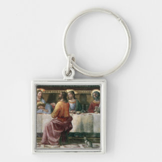 The Last Supper 2 Silver-Colored Square Keychain