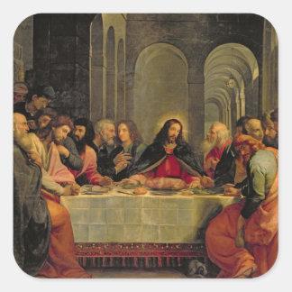 The Last Supper 2 Square Sticker
