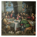 The Last Supper 3 Large Square Tile