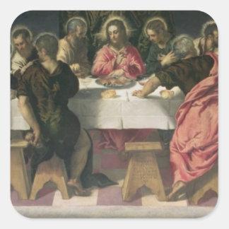 The Last Supper 4 Square Stickers