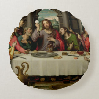 The Last Supper 5 Round Pillow