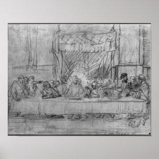 The Last Supper, after fresco by Leonardo da Poster
