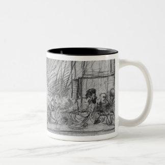 The Last Supper, after fresco by Leonardo da Two-Tone Coffee Mug