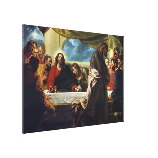 The Last Supper by Benjamin West Canvas Print