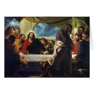 The Last Supper by Benjamin West Greeting Card