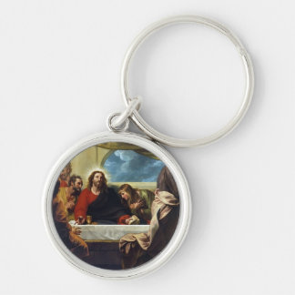 The Last Supper by Benjamin West Silver-Colored Round Keychain
