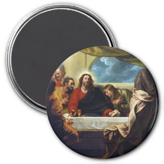 The Last Supper by Benjamin West 3 Inch Round Magnet