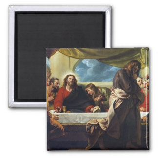 The Last Supper by Benjamin West 2 Inch Square Magnet